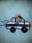 POLICE CAR PERSONALISED TOWEL SET